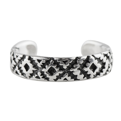 Woven Pattern Toe Ring