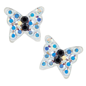 Aurora Crystal Butterfly Post Earrings