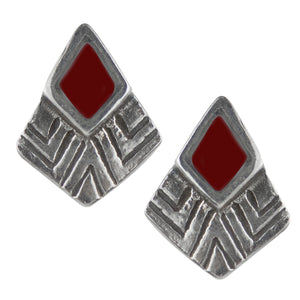 Bali Kite Post Earring - Red