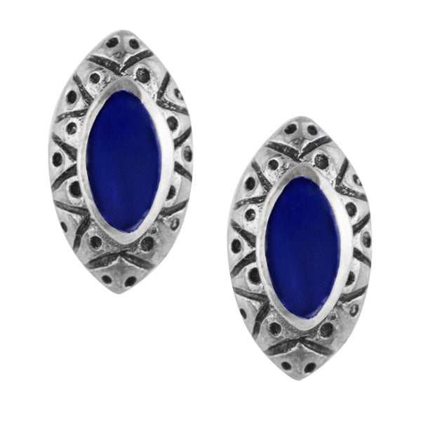 Bali Marquise Earring - Blue Lapis