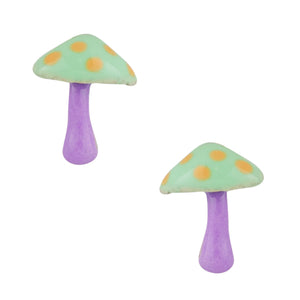 Dreamy Mushroom Post Earring - Green