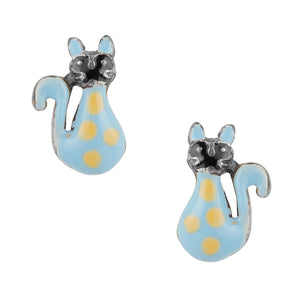 Dreamy Spotted Kitty Post Earring