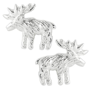 Moose Post Earrings