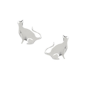 Sitting Kitty Studs