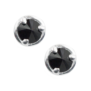 Inverted Stone Post Earrings - Black Onyx