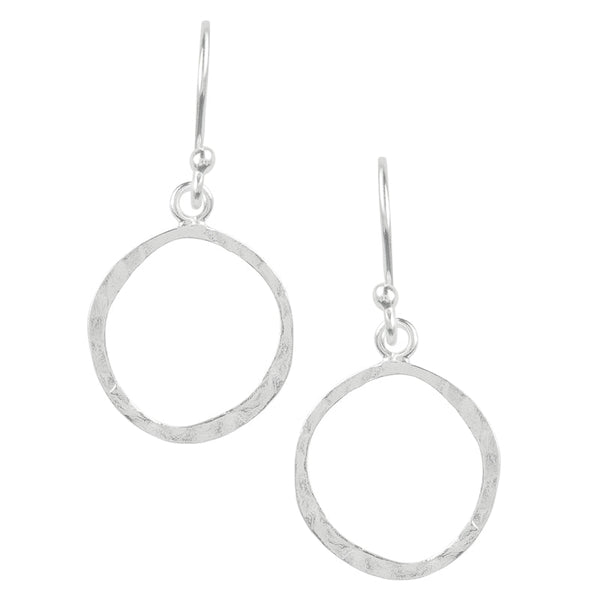 Hammered Circle Hook Earrings