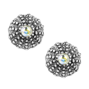 Sea Urchin Studs with Crystal