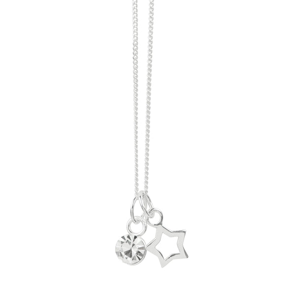 April Crystal Birthstone Star Necklace