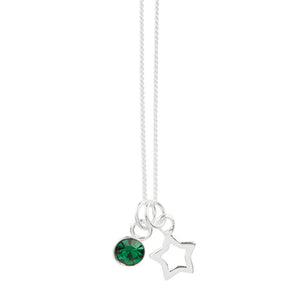May Crystal Birthstone Star Necklace