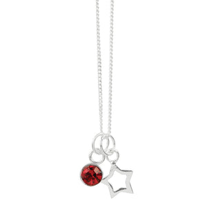 July Crystal Birthstone Star Necklace