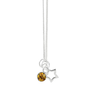 November Crystal Birthstone Star Necklace