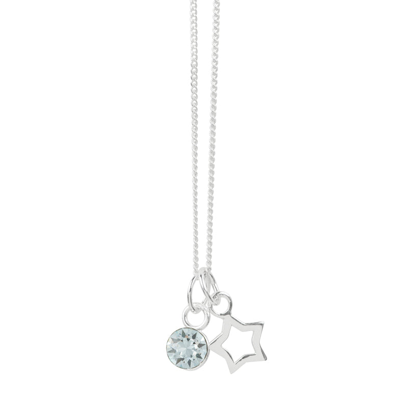 December Crystal Birthstone Star Necklace