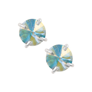 Pointed Prong Set Crystal Studs - Aurora