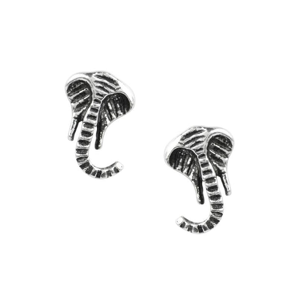 Lucky Elephant Head Studs