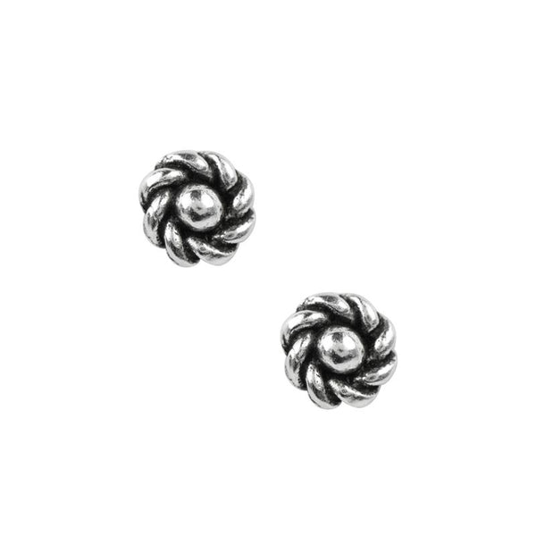 Roped Flower Knot Studs