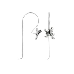 Hoppy Frog Elongated Hook Earring