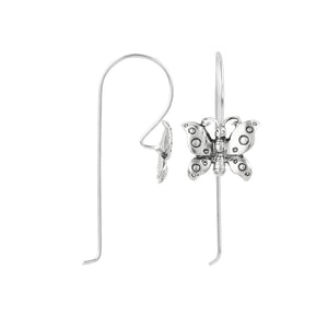 Spotted Butterfly Elongated Hook Earring