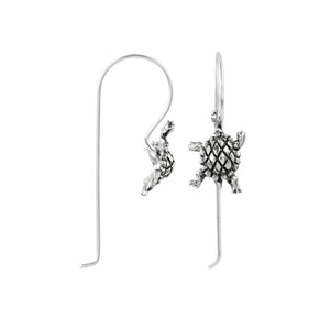 Box Turtle Elongated Hook Earring