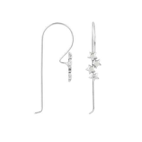Star Stack Elongated Hook Earring