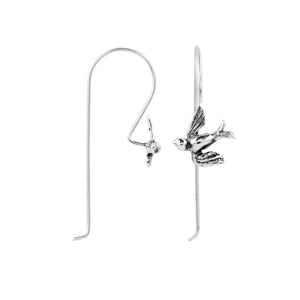Soaring Sparrow Elongated Hook Earring
