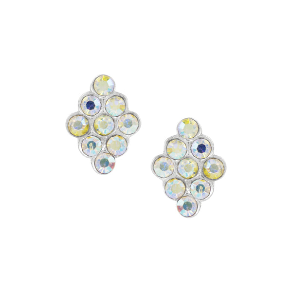 Crystal Diamond Studs - Aurora