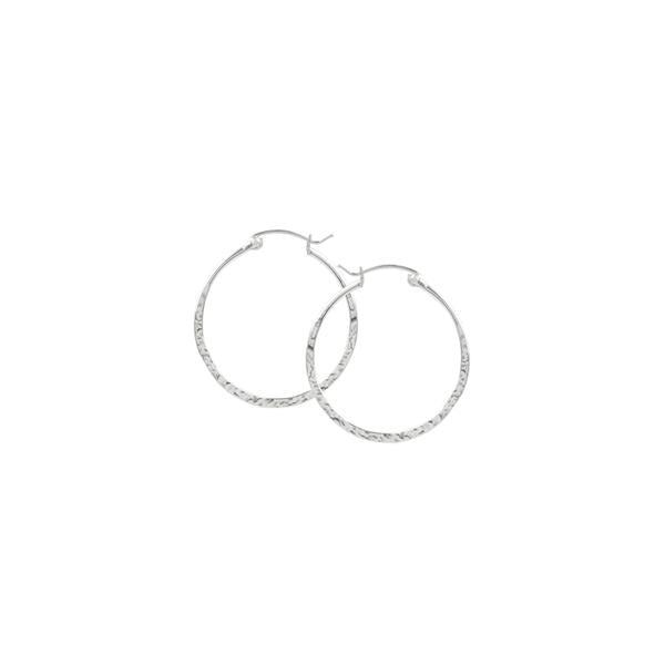 Hammered P/C Hoops - 30mm