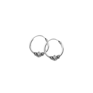 Wrapped Knot Endless Hoops - 10mm