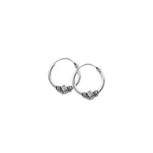 Wrapped Knot Endless Hoops - 20mm