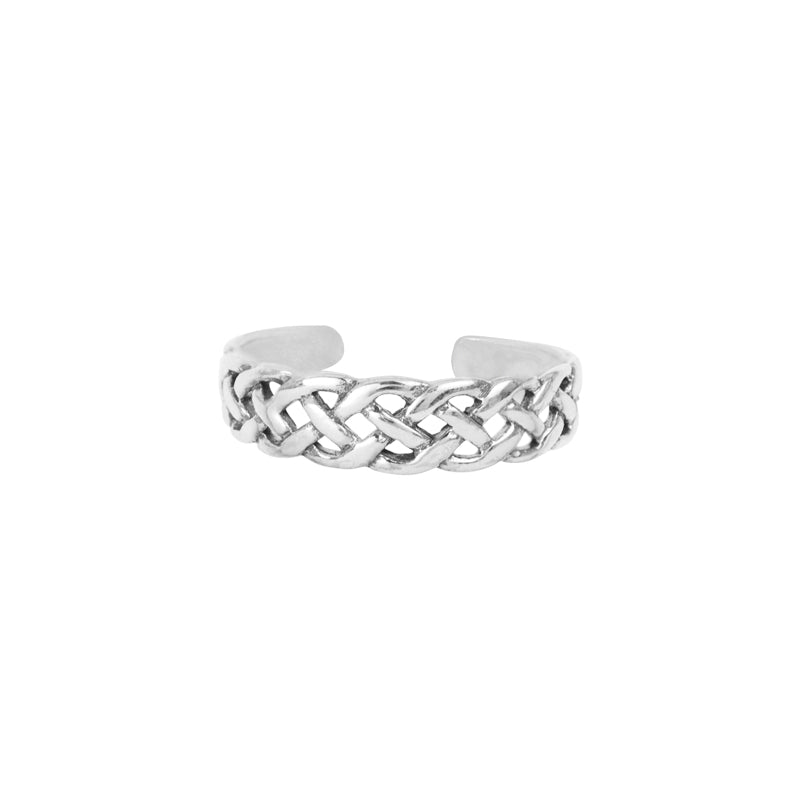Open Braid Toe Ring
