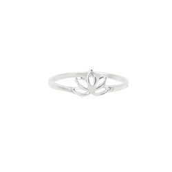 Mini Cutout Lotus Ring