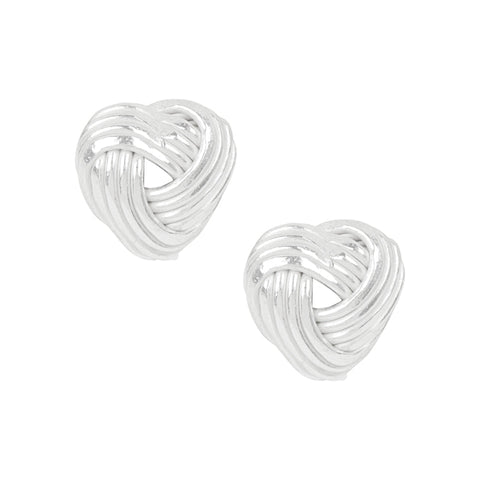 Love Me Knot Heart Studs