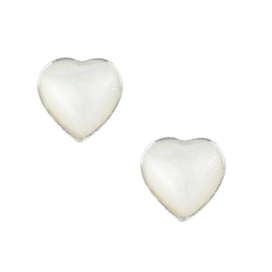 Heart Studs in Mother of Pearl