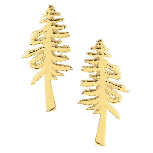 Redwood Tree Posts in Gold