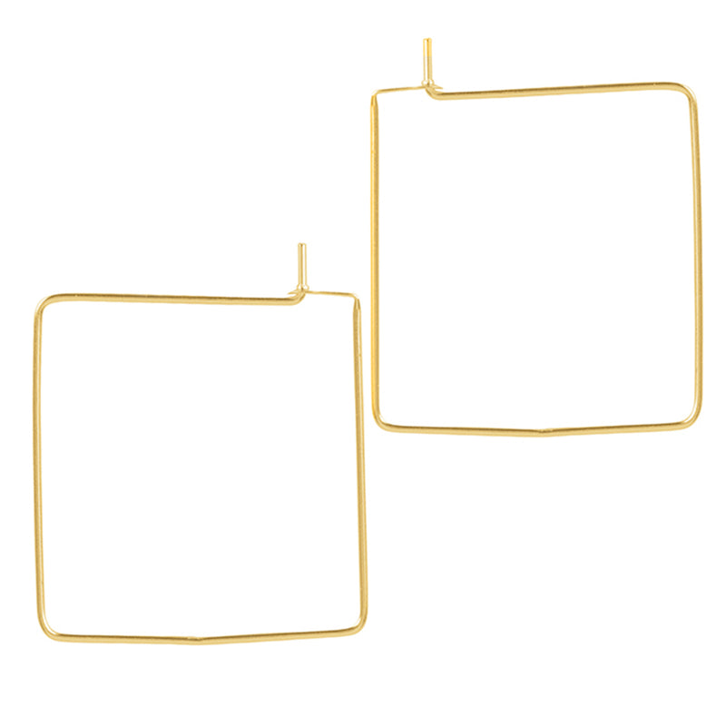 Square Hoops - Gold