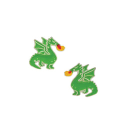 Dragon Studs - Enamel
