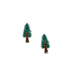 Redwood Tree Studs - Enamel