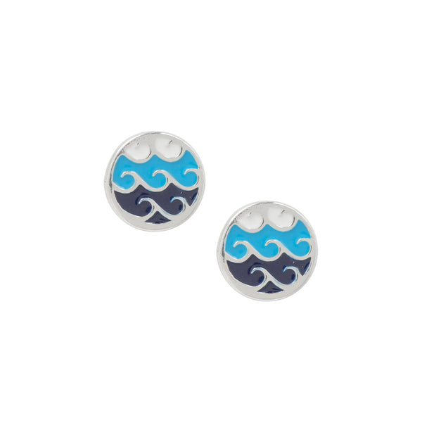 Rolling Waves Studs