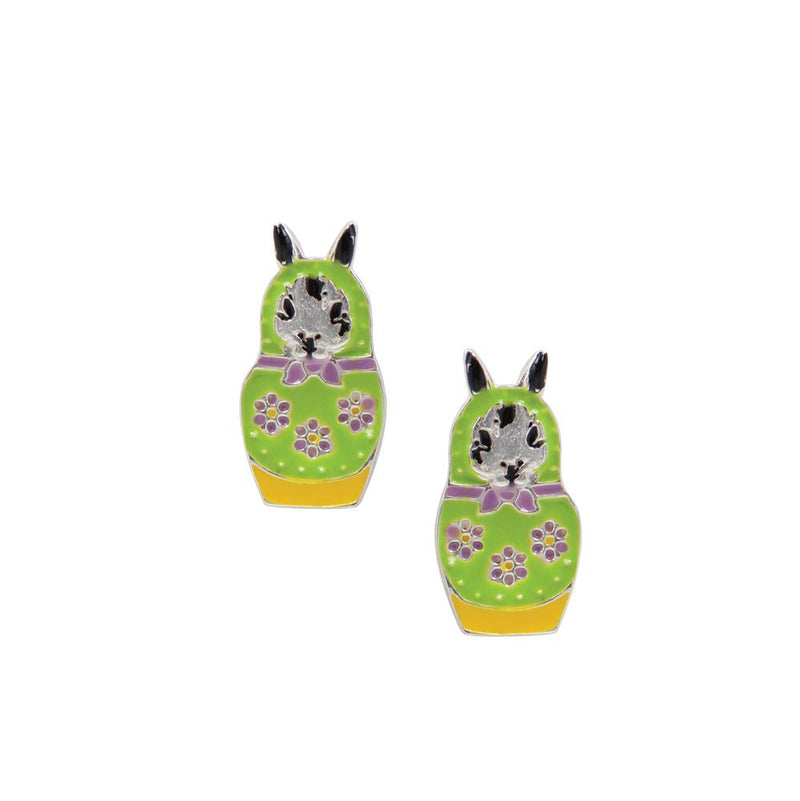 Nesting Doll Studs - Rabbit
