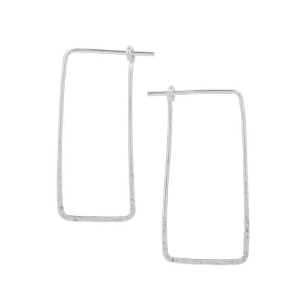 Hammered Rectangle Sleeper Hoops