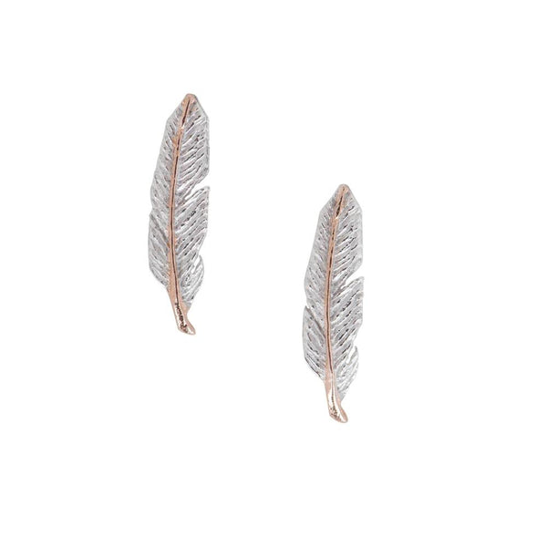 Two-Tone Feather Studs