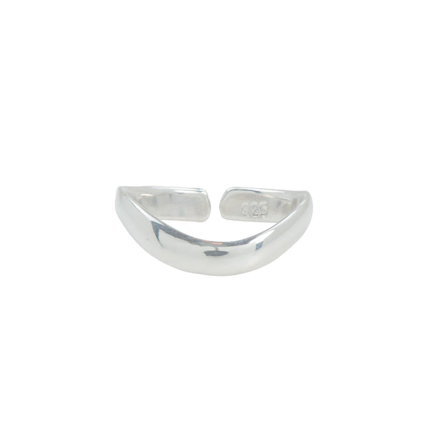 Curved Band Toe Ring