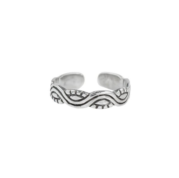 Waves And Sun Toe Ring
