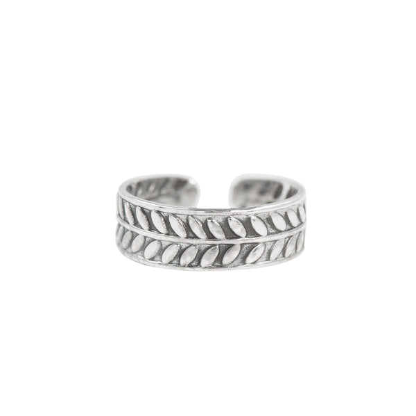 Fern Band Toe Ring