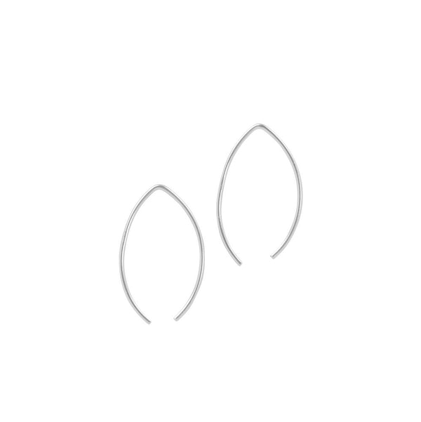 Leaf Threader Hoops - 24mm