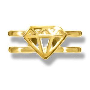 Gold Diamond Toe Ring