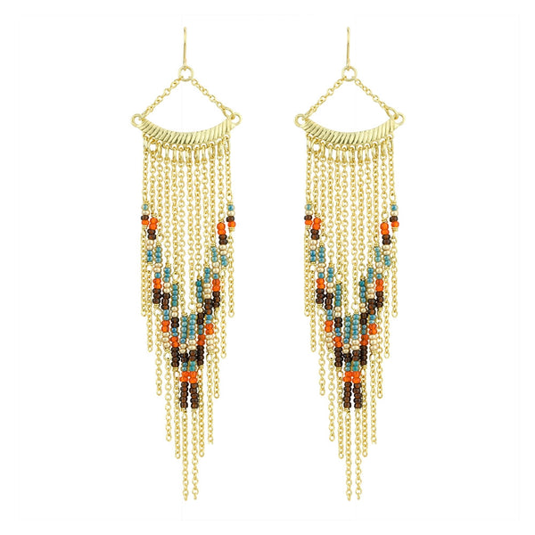 Sunset Fringe Earring