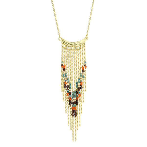 Thistle Tassel Necklace