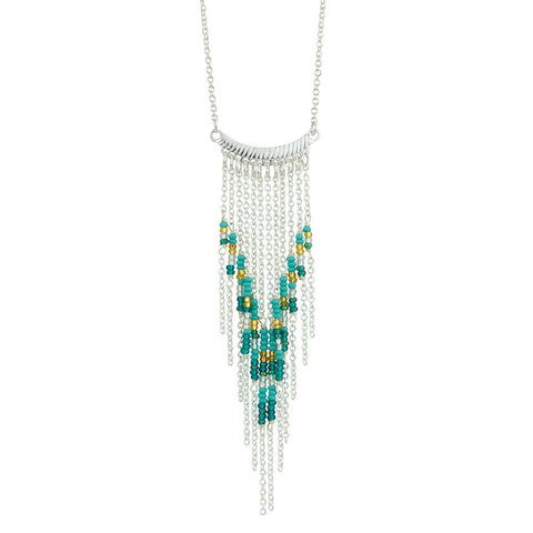 Thistle Fringe Necklace