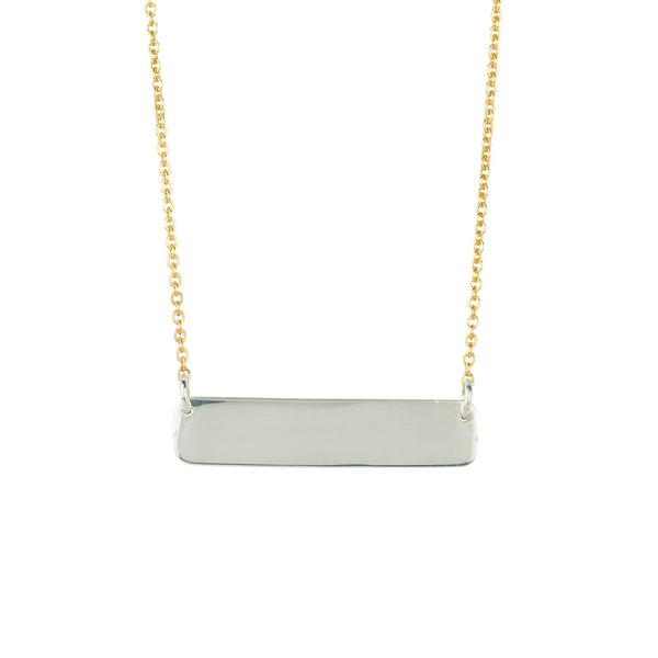 Dual-Tone Bar Necklace