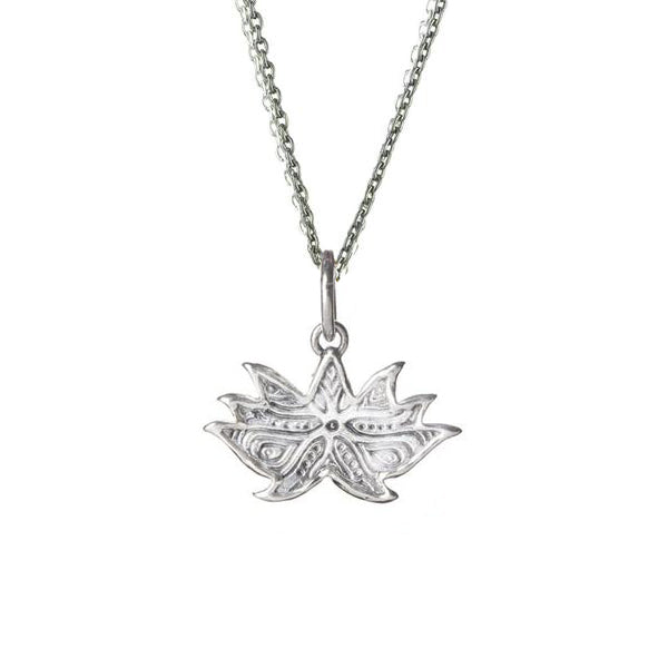 Glyphic Lotus Necklace